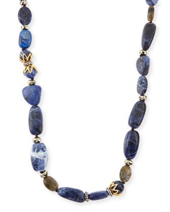 Labradorite, Aventurine & Sodalite Necklace, 42