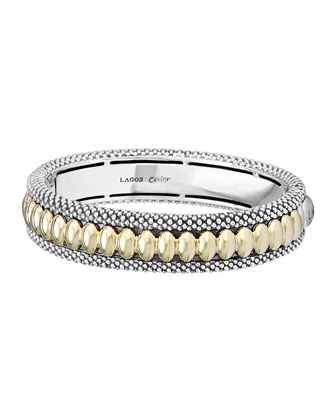 Hinged Caviar Bangle