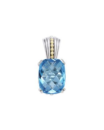 18k Blue Topaz Prism Pendant