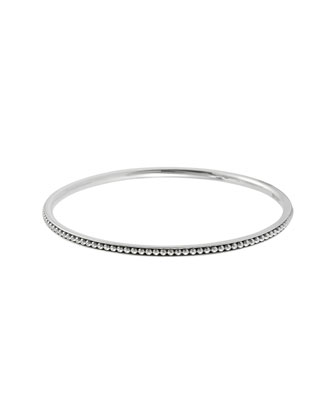 3mm Silver Caviar Bangle