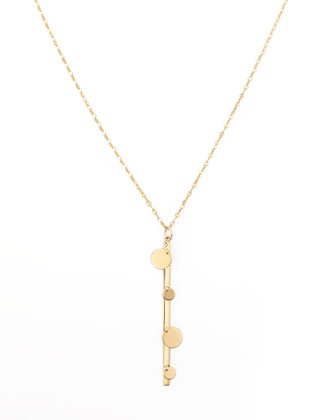 14k Gold Boho Bar Necklace