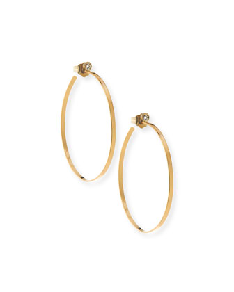 Small Lana Hoops with Diamonds