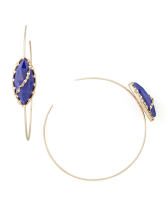 Abra Lapis Hoop Earrings