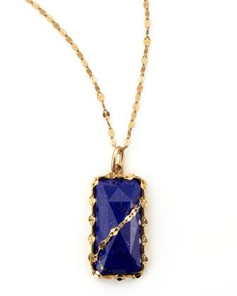 Abra Lapis Rectangle Pendant Necklace