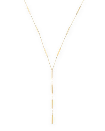 14k Dash Lariat Necklace
