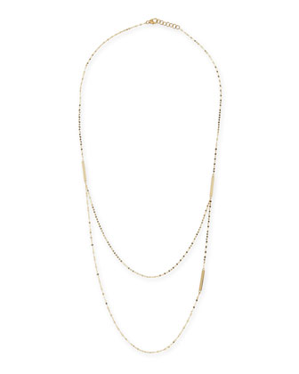 14k Yellow Gold Tri-Bar Necklace