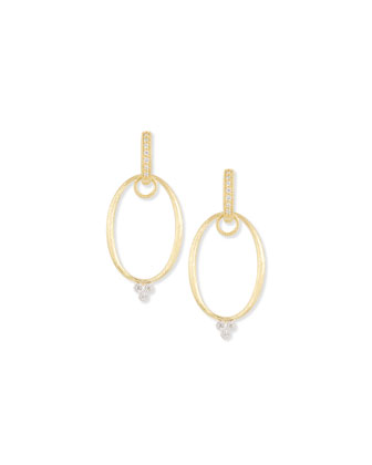 Yellow Gold Provence Oval Earring Frames