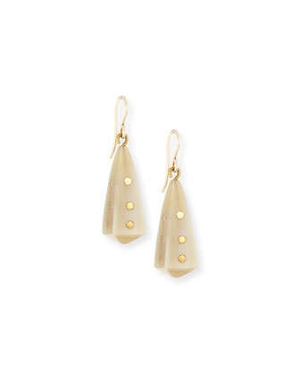 Doa Light Horn Pyramid Dot Earrings
