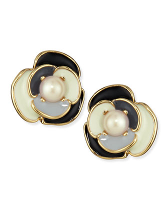deco blossom stud earrings