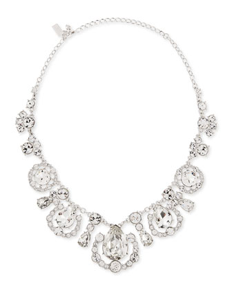 grand debut necklace, clear