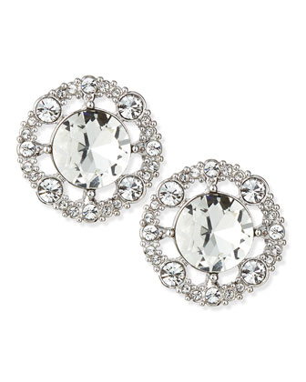 grand debut stud earrings, clear