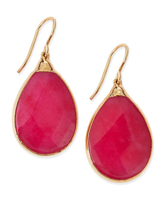 Fuchsia Jade Teardrop Earrings