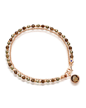 Prosperity Friendship Bracelet with Pyrite & Smoky Quartz