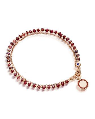 Garnet Cosmos Friendship Bracelet, Red