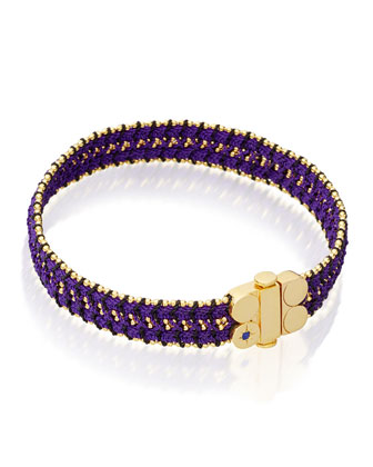 Wide Violet Berry Bracelet