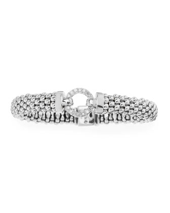 Enso Diamond Caviar Bracelet, 9mm