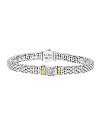 6mm Diamond-Square Caviar Bracelet