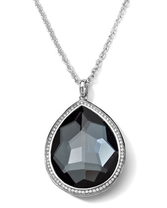 Stella Medium Hematite Teardrop Pendant Necklace