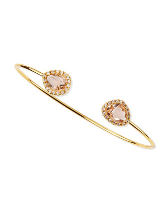 Peach Crystal Pinch Bracelet