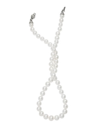 Silver Luna 9-10mm Pearl Necklace