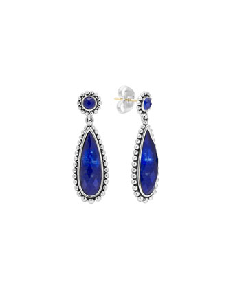 Silver Maya Lapis Drop Earrings