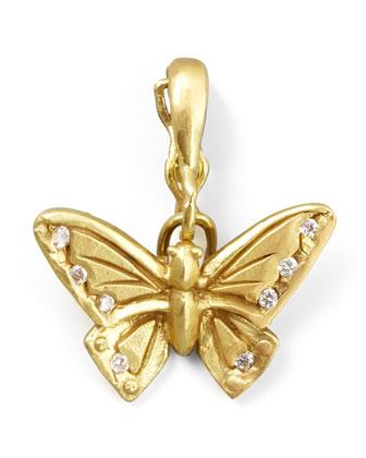 18k Yellow Gold Diamond Butterfly Enhancer