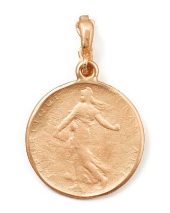 18k Rose Gold Classic Goddess Coin Enhancer