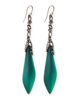 Crystal-Drop Lucite Earrings, Black Forest