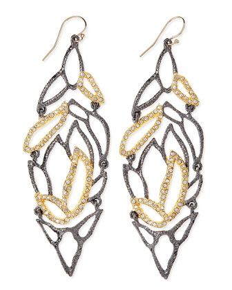 Elements Lacy Leaf Earrings