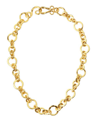 Coronation 24k Gold Plate Small Necklace, 18