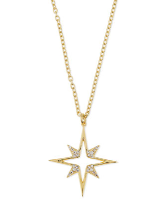 Astral Pendant Necklace with White Topaz