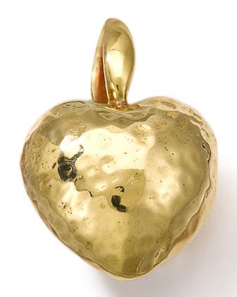 18k Gold Small Heart Charm