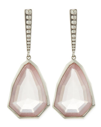 Small Sterling Silver Galactical Rose Quartz Earrings