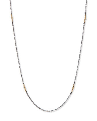 14k Gold-Beaded Station Necklace, 40