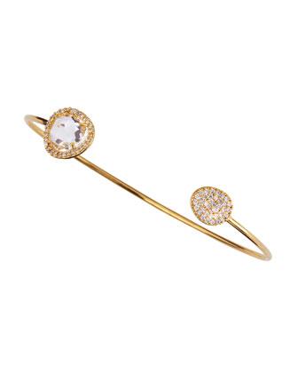 Clear Stone Pinch Bracelet
