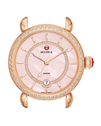CSX-36 Elegance Diamond Rose Gold Plated Watch Head