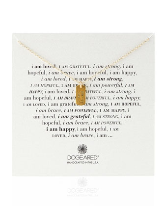 Gold-Dipped I Am Loved Dogtag Necklace
