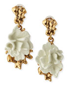 Ivory Coral Clip-On Earrings