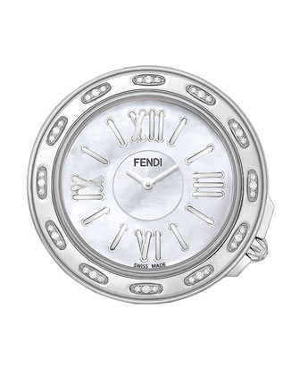37mm Fendi Selleria Stainless Steel Diamond Watch Head & Stainless Steel ...