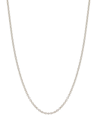 2mm Sterling Silver Chain Necklace, 18
