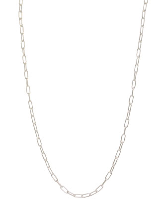 3mm Sterling Silver Long-Link Chain Necklace, 17