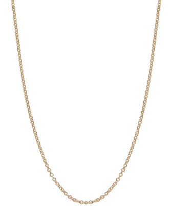 2mm Yellow Gold Chain Necklace, 24