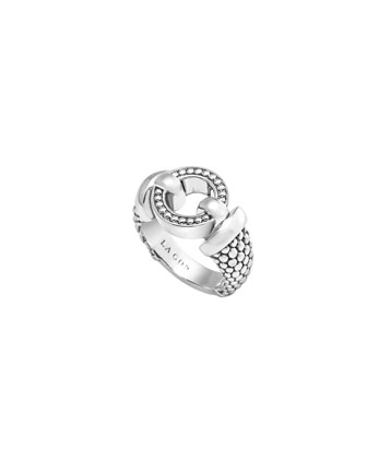 13mm Enso Sterling Silver Ring
