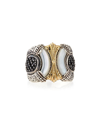 Mother-of-Pearl & Spinel Band Ring