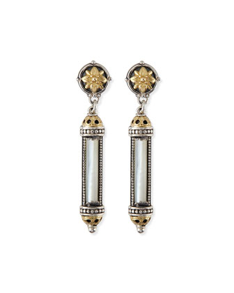 Silver & 18k Gold Mother-of-Pearl Earrings