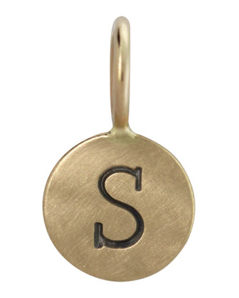 14k Yellow Gold Single Uppercase Initial Charm