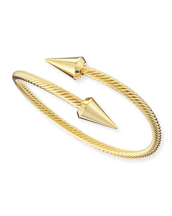 Zoe Wrap Spike Bracelet, Golden