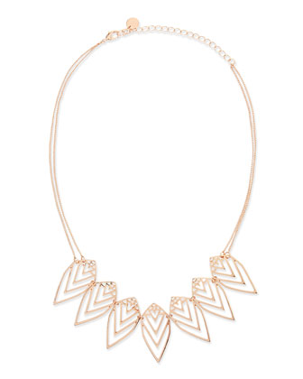 Nature Two-Strand Necklace, Rose Golden
