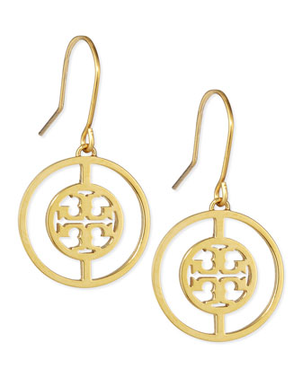 Deco Logo Drop Earrings