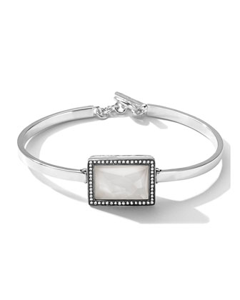 Togglette Bracelet with Quartz Rectangle & Diamonds